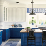 kitchen-design-in-canton-ga-cobalt-blue-base-cabinets-ivory-top-cabinets-butcher-block-island
