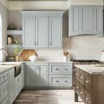 kitchen-remodel-in-Canton-ga-kraftmaid-seafoam-blue-maple-cabinets-kitchen-island